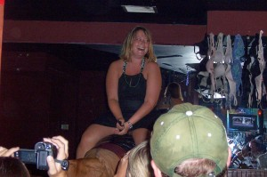 Riding the Bull at the Bourbon Cowboy