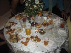 The food at the reception
