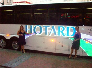 Hotards coffee shop, hair salon, and bus company