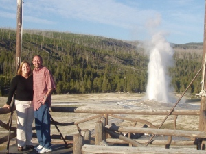 Yellowstone 2003-- by Old Faithful