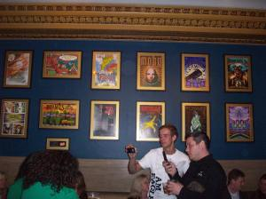 Hallway at the Warfield-- lots of cool acts have played there
