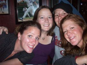 group shot self-portrait: Kelly, Cari, Jess, Kirsten