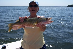 but I think my mom caught the biggest one!