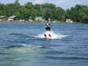 Highlight of the trip: Getting up on waterskiis for the first time!